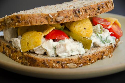 hatch chile chicken salad sandwich| dailywaffle