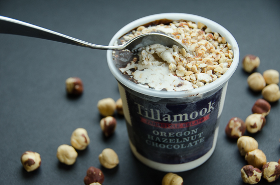 Tillamook Oregon hazelnut Chocolate gelato |dailywaffle