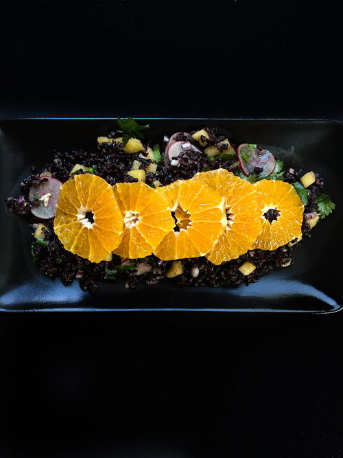 forbidden rice salad with pixie tangerine vinaigrette black |dailywaffle