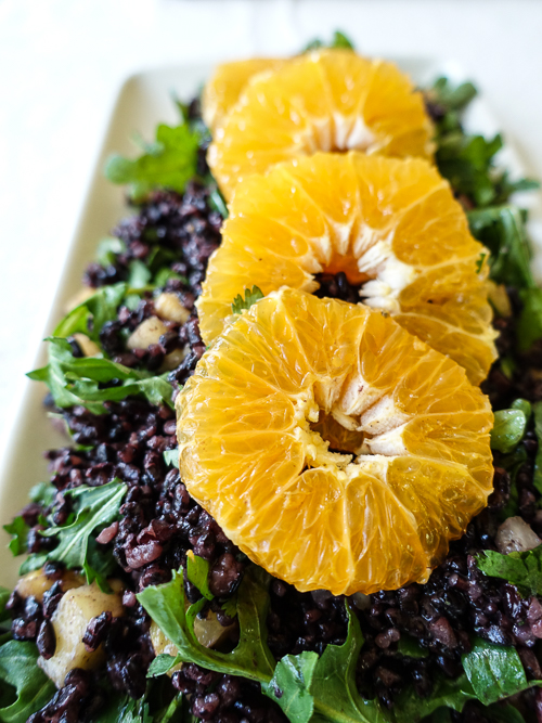 forbidden rice salad with pixie tangerine vinaigrette |dailywaffle
