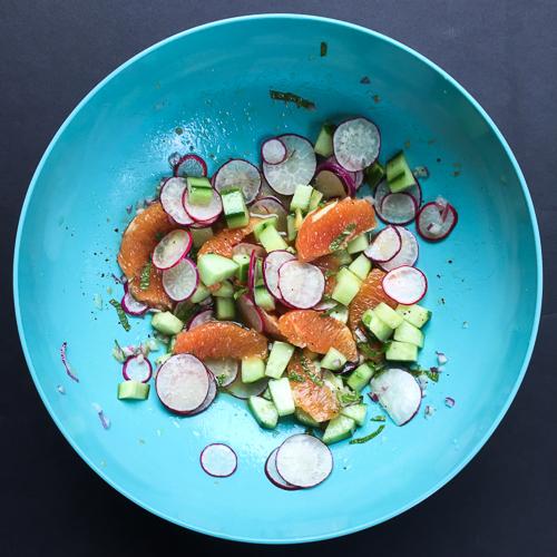 more rockin radish salad  dailywaffle