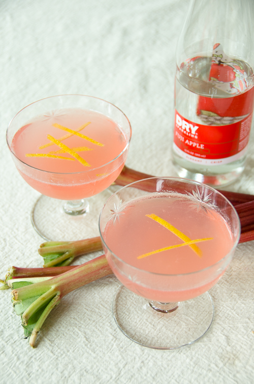 rhubarb pie vodka collins with dry sparkling fuji apple |dailywaffle