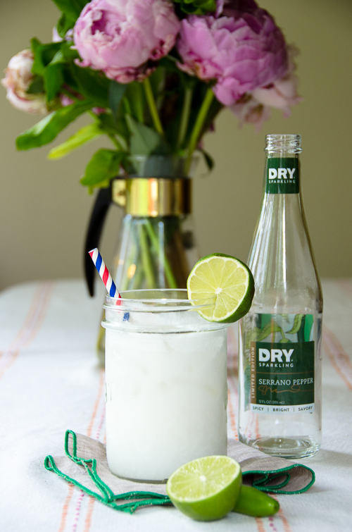 coconut gin fizz with dry sparkling serrano pepper | dailywaffle