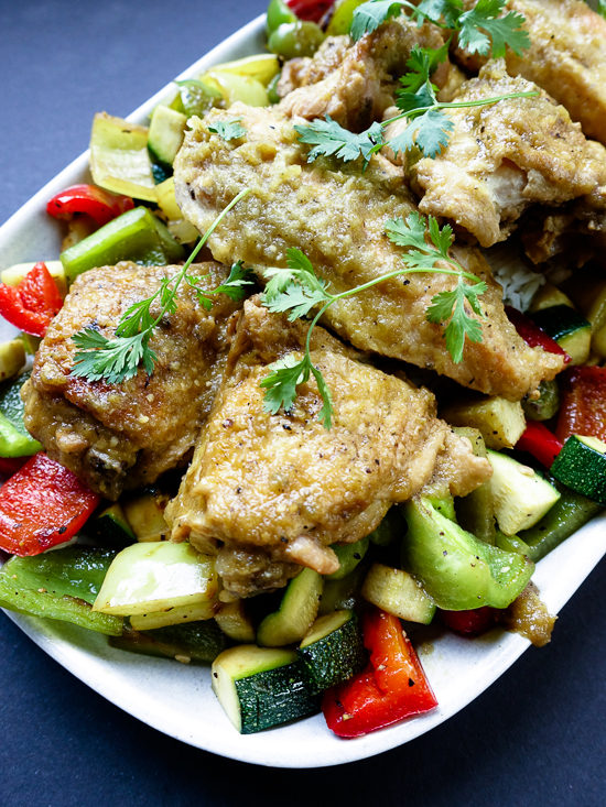 green chile verde braised chicken | dailywaffle