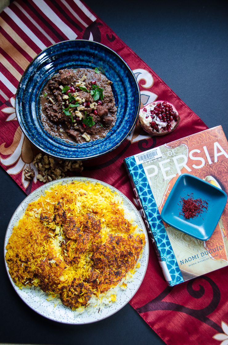fesenjun and persian rice