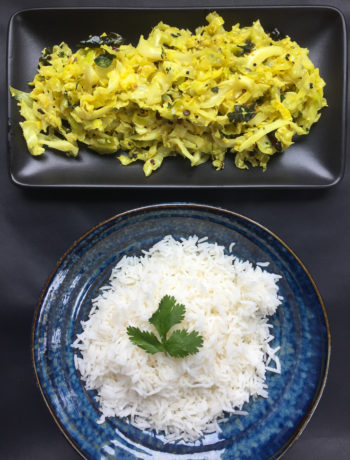 cabbage stirfry with lemon and curry leaves vibrant india