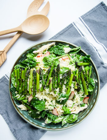 lemony orzo with asparagus