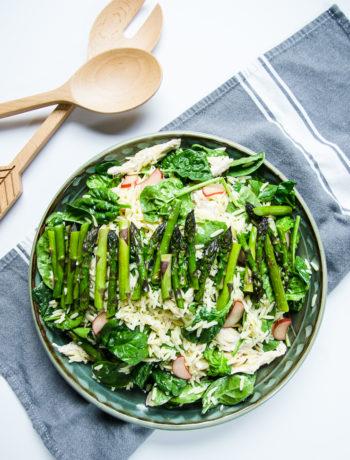 lemony orzo with asparagus