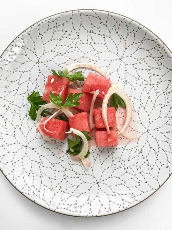 BIANCO watermelon fennel parsley salad