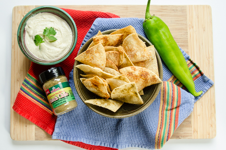 hatch chile chips and dip