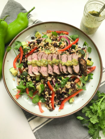 steak salad with hatch chile vinaigrette